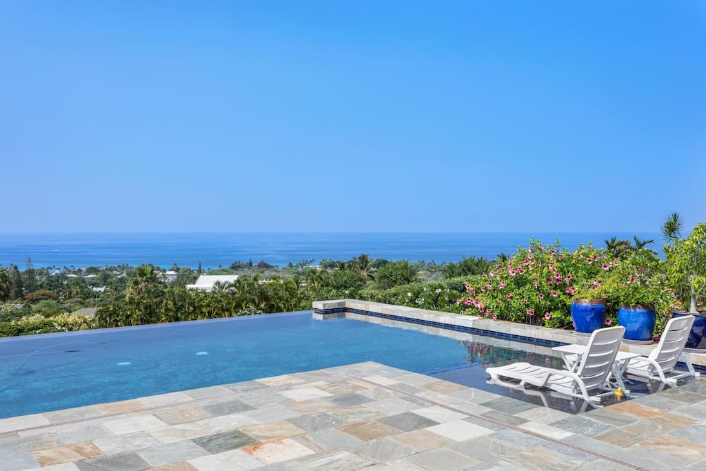 Beautiful Ocean Views from Private Infinity Pool with Soaking Deck