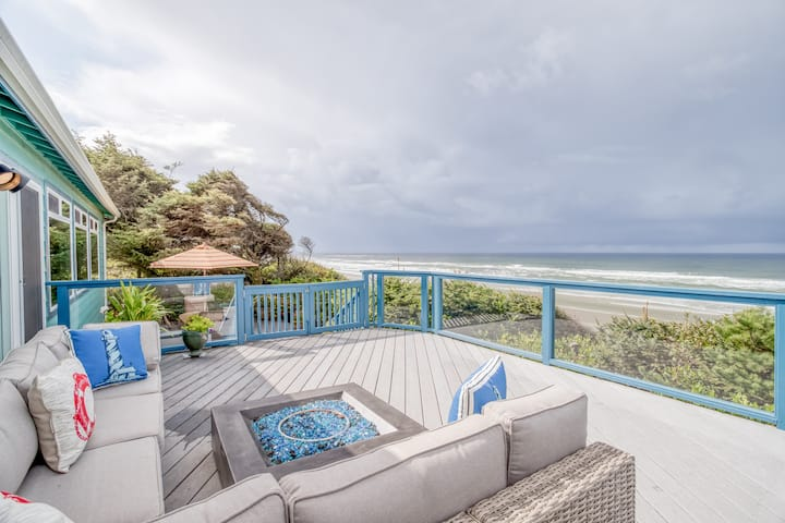 Private, Updated Oceanfront Charmer With Panoramic Views Has Extensive Outdoor Living Space!