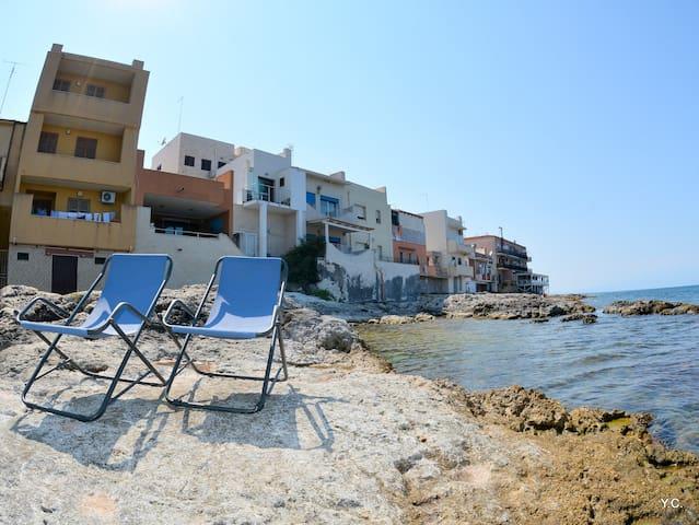 Casa Euribia, soggiorno in riva al mare.