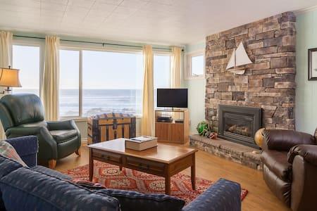 Captain's Quarters - 3 bdrm, oceanfront, balcony - Lincoln City - 公寓
