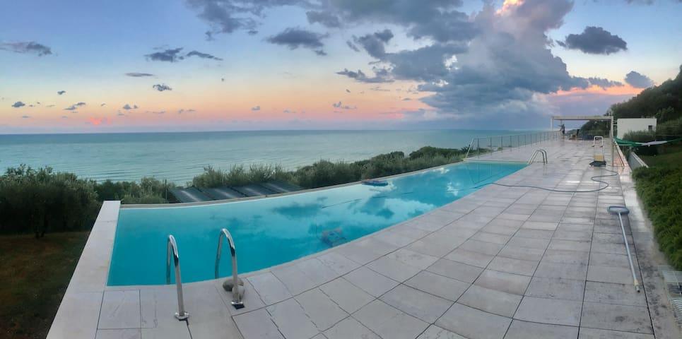 Stunning design villa with unique 180º sea views
