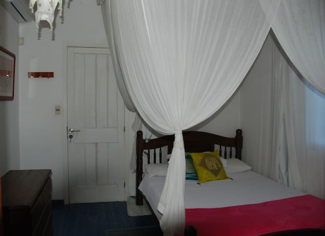 King size bed in double bedroom.