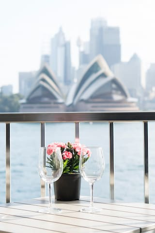 Enjoy all the beautiful sights in style from the waterfront balcony