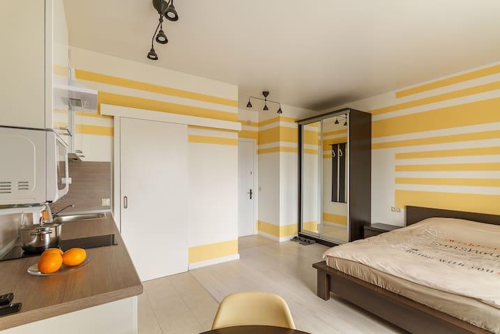 Уютная студия в ЖК бизнес класса. 24-й этаж