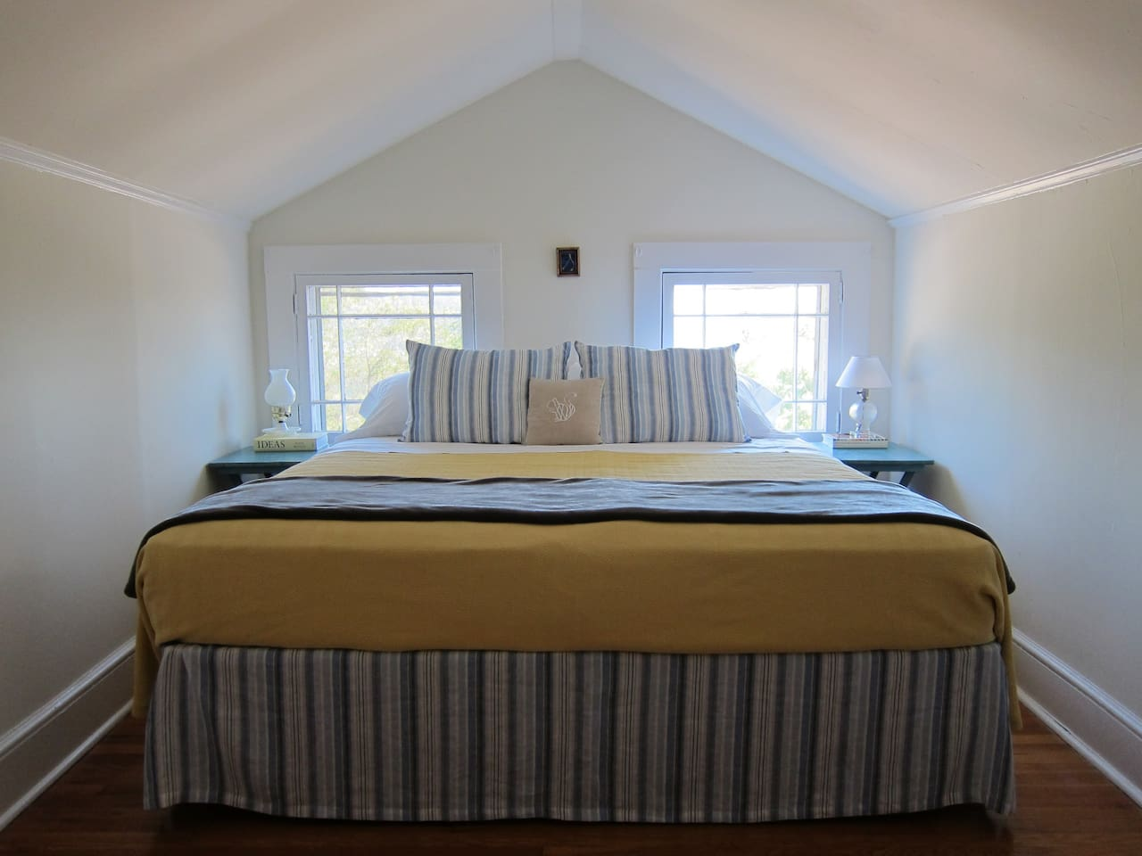 Sunny bedroom with European King Bed