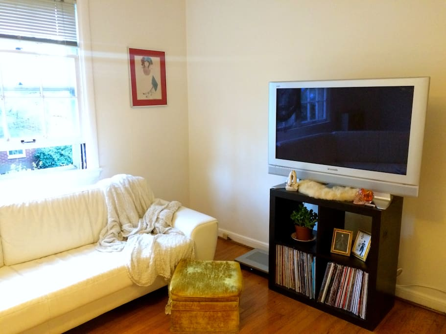 Basic cable, HBO, and streampix allow for hundreds of tv shows and movies!