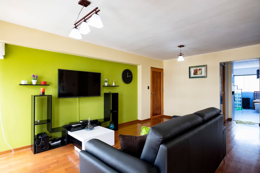 Chill/lounge room, large HD TV and powerful sound bar for your viewing and relaxing pleasure!