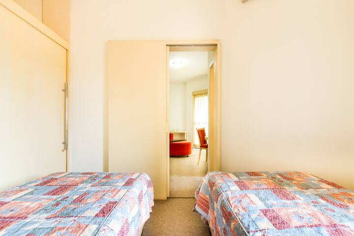 vista do quarto para a sala