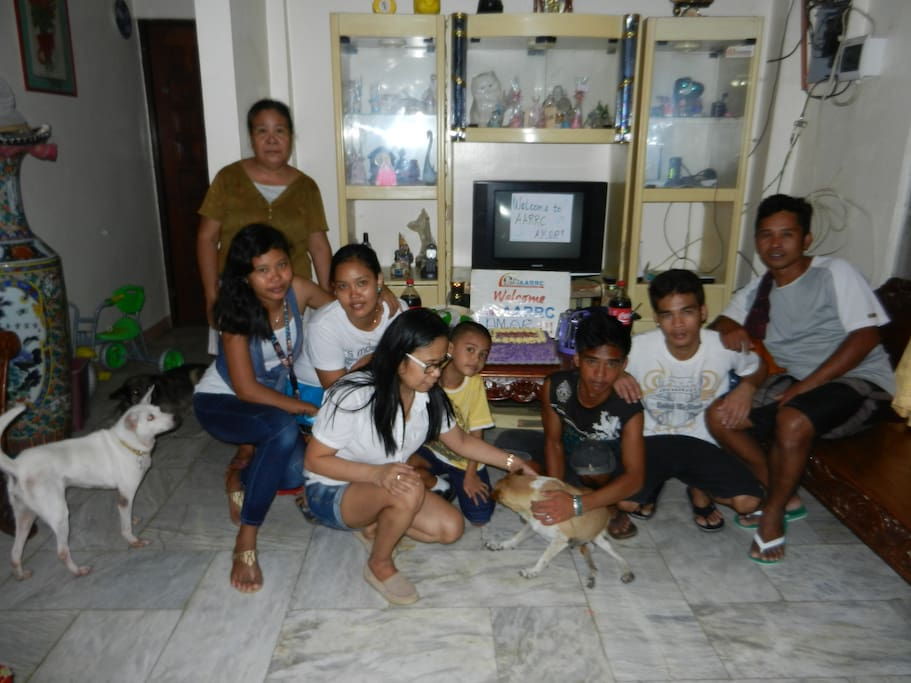 Our staff welcoming another disabled dog from Manila