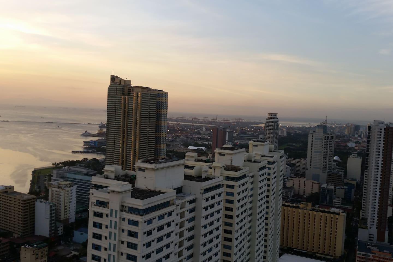 Stunning sunset view at balcony
