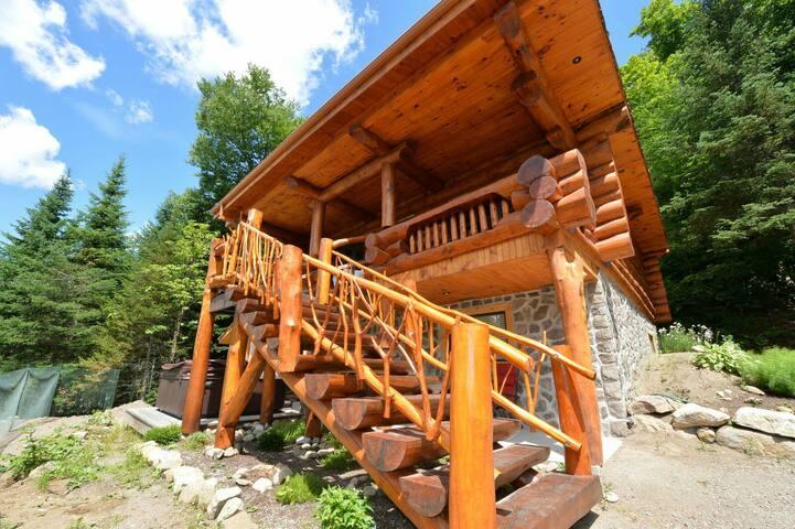 Maison en bois rond , type scandina - Saint-Faustin-Lac-Carré - Haus