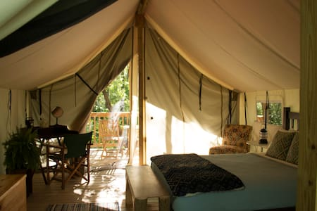 Seneca Sol Safari Tent - Cherry (Queen Bed)