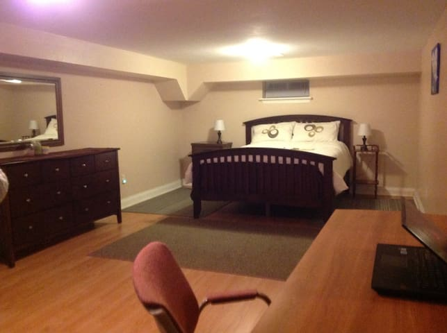 Large Private  bed room  Queen size bed  .  Plus