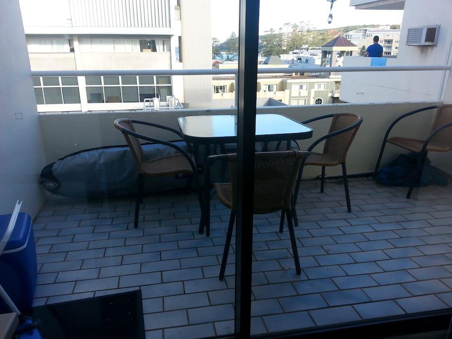 Balcony, nice for breakfast