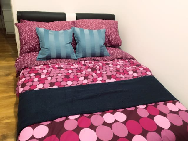 Dressed Italian double bed