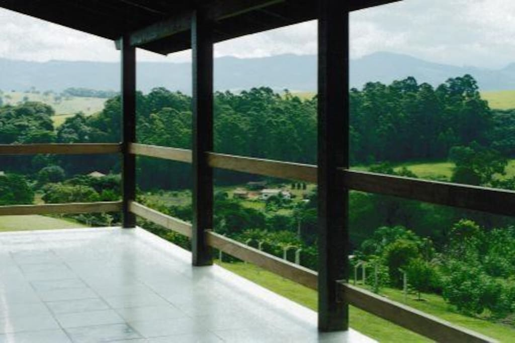 Vista geral da varanda