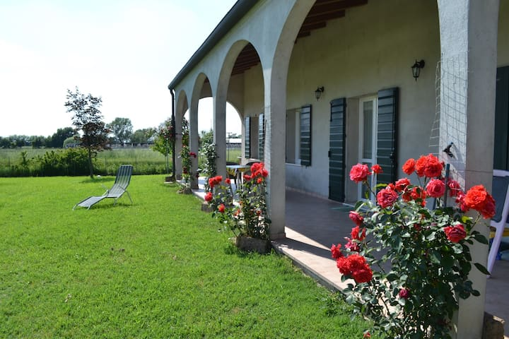House 57 sqm with garden, patio, private parking - Guarda Veneta - House