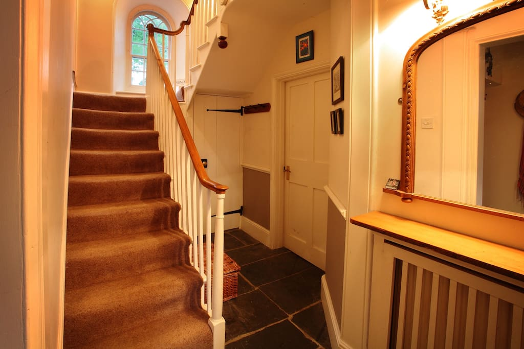Hallway... we have stone flagged floors throughout most of downstairs