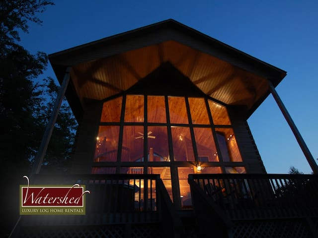 Lake fontana view cabins for rent in bryson city north for Watershed cabins lake fontana view
