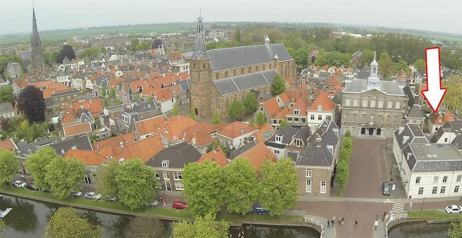 House in old center of Weesp. Near Amsterdam.