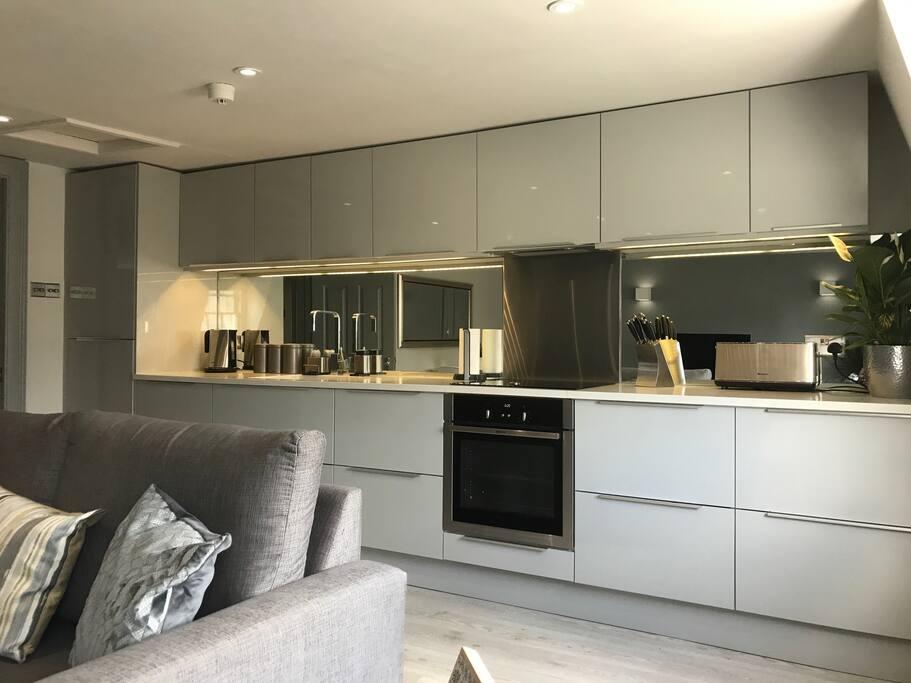 Stylish, brand new, high specification kitchen with Neff appliances and Quartz worktop