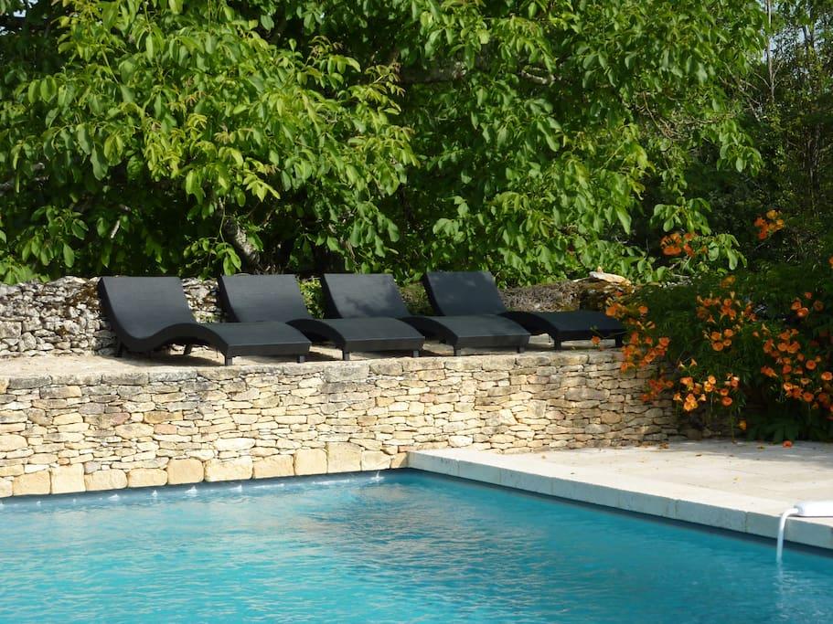 Très belle piscine de 19m de long.