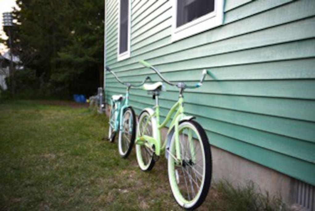 Five coaster bikes for your use!