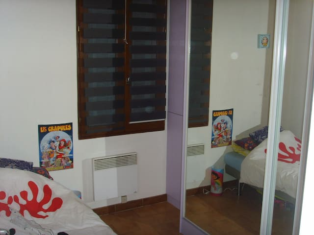 Chambre de 15 m2 dans appartement avec vue sur mer