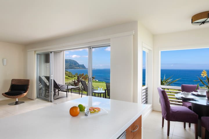 Kauai Oceanfront Breathtaking View  - Princeville - Apartment