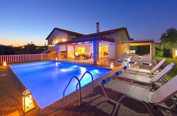 Rhodes Olive Private Eco Villa Swimming Pool 5BDR