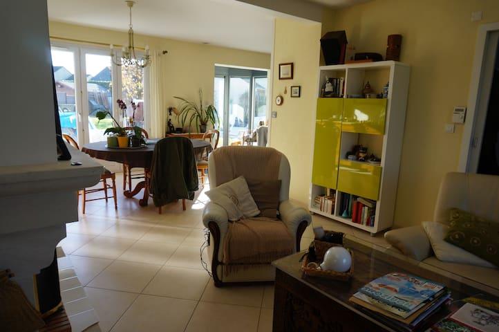 Chambre double, accès libre à la maison. - Saint-Nazaire - Hus