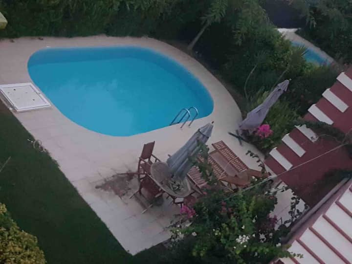 with private pool 9 persons villa 2 km from beach