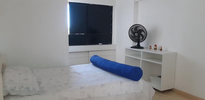 Bedroom suite in nice apartment, very well located