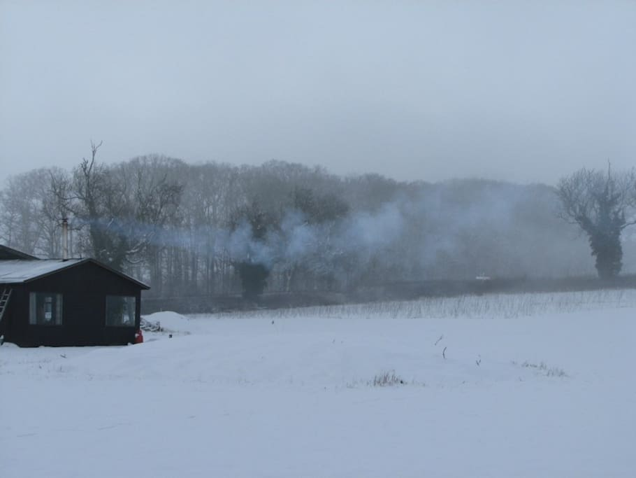 Falconers Lodge in the snow.