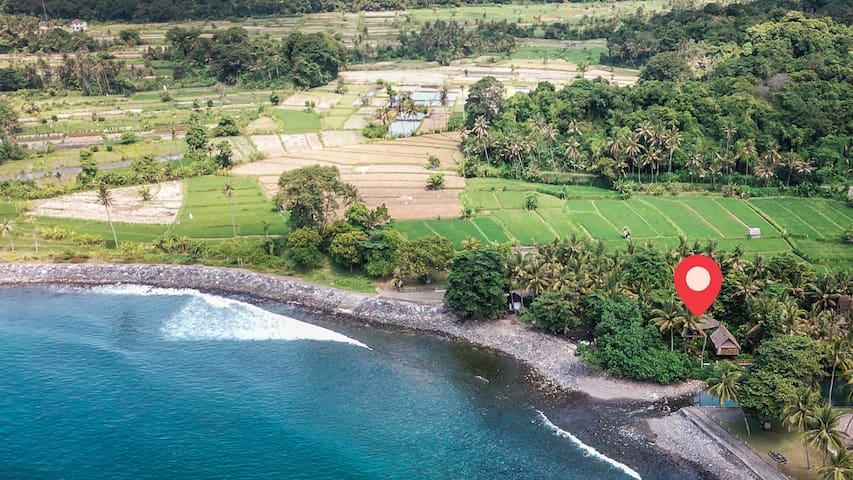 Jasri Dalem Surf Retreat from the sky