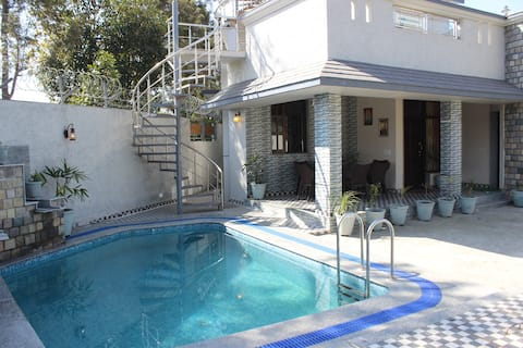 2BHK with Private Swimming pool and Lawn