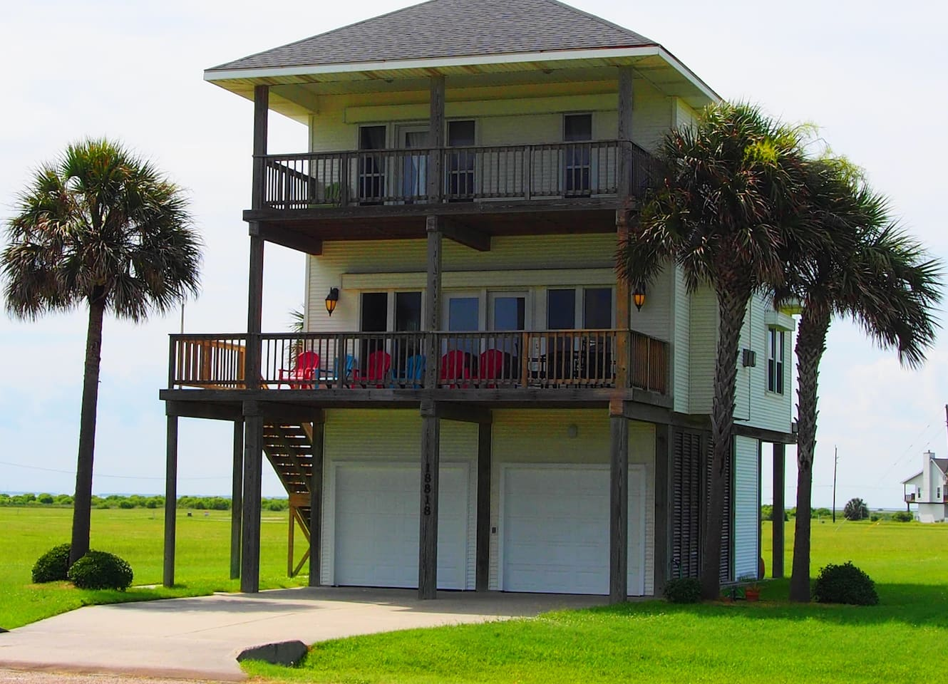 Enjoy the Beautiful Views of the Beach from the Two Front Covered Decks!