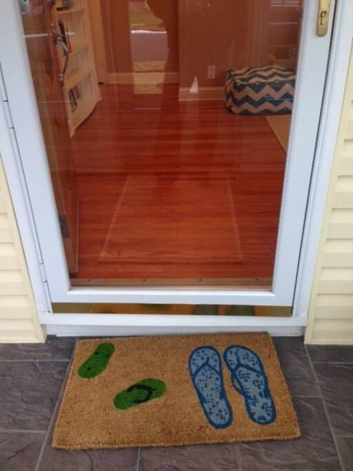Porch and entryway