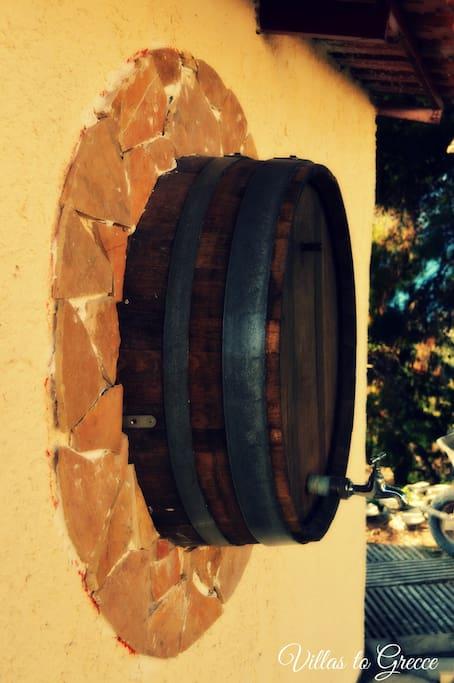 Wine Barrel decoration