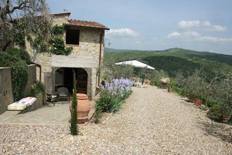 Casa Al Poggio & Chianti view