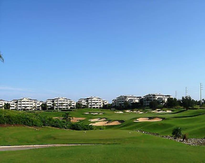 Condos on the golf course