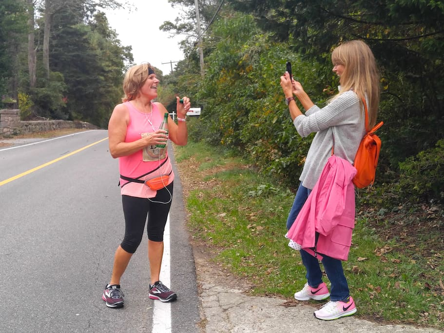 Ladies from England take part in the Cape Cod Marathon in October, 2017. Great fun!