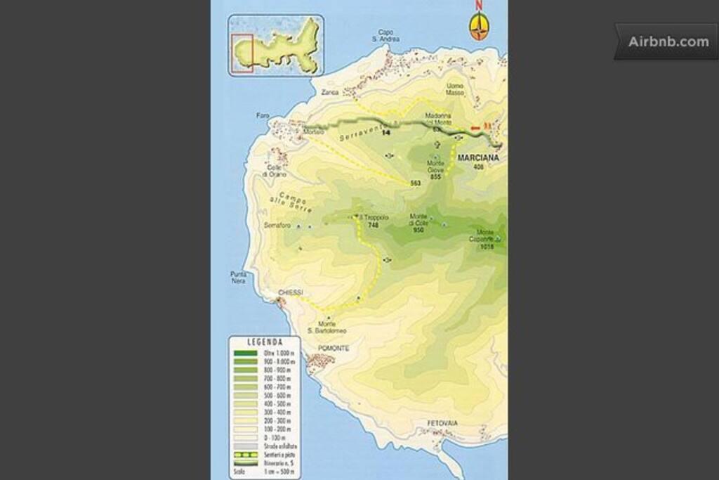 Mappa della zona in cui si trova la casa