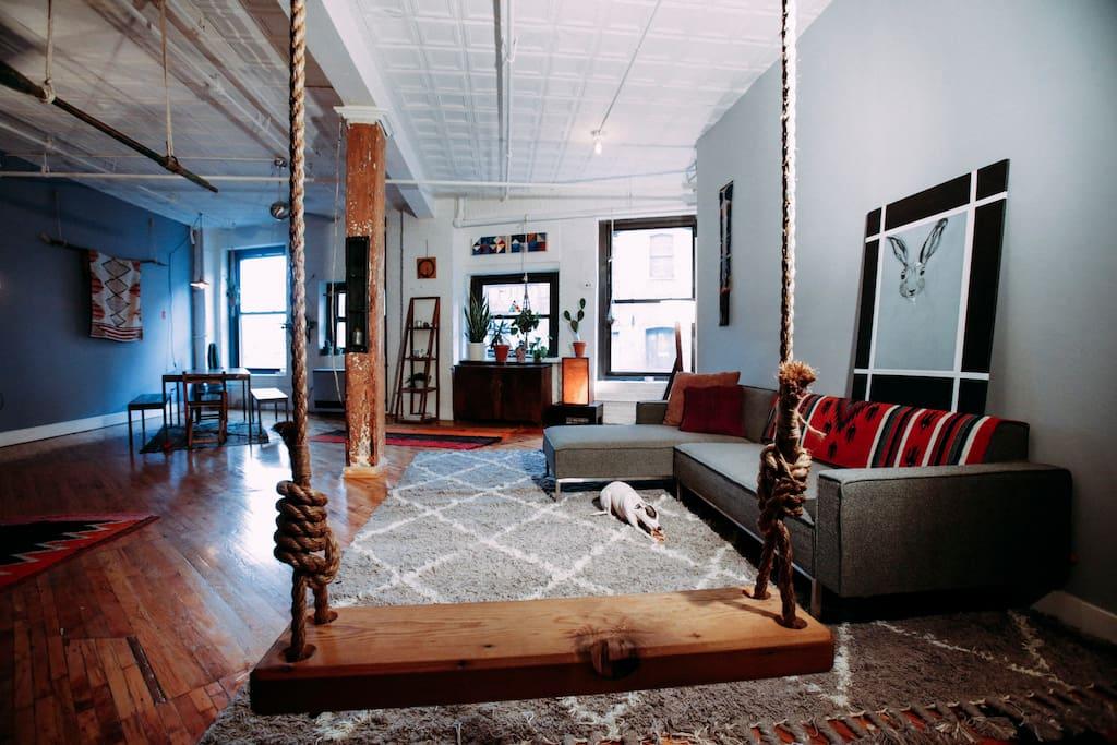 Private room in historic loft appartamenti in affitto a for Loft new york affitto settimanale