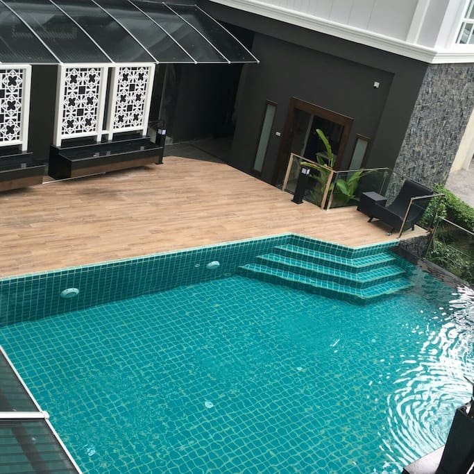 Relax your day with salt swimming pool.
