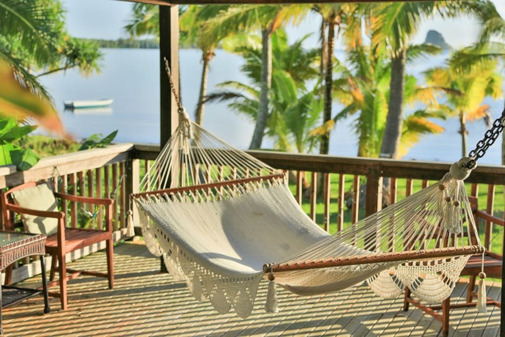 Relax at your Hammock in the gazeebo near the beach.