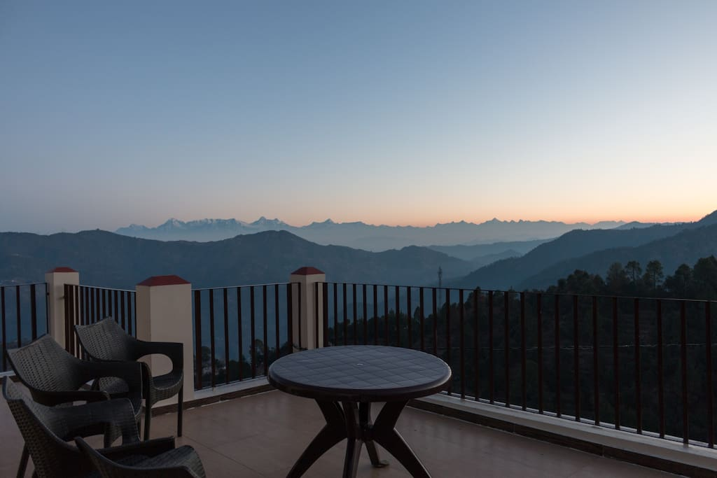View of Himalayas Peaks from Villa balcony