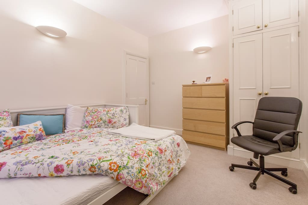 Comfy double bed and plenty of storage space