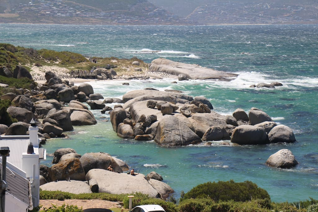 View of Boulders Beach from Main House