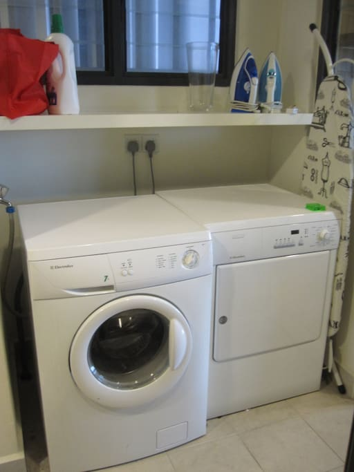 Washer + dryer in apartment
